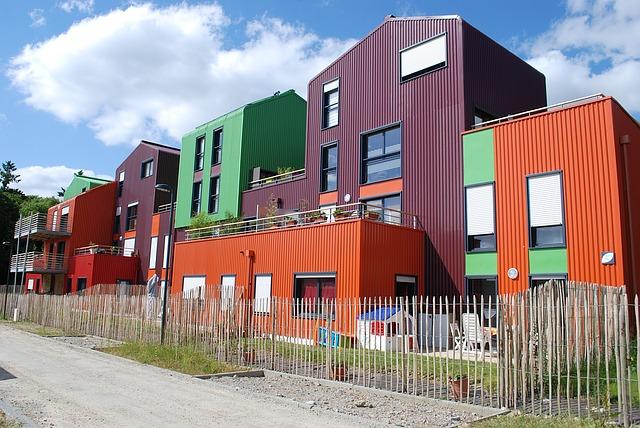 questa immagina mostra un progetto di edilizia popolare residenziale